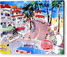 San Clemente Strip Acrylic Print by John Dunn