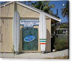 San Clemente Surfboards Acrylic Print