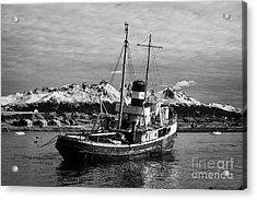 san cristobal saint christopher tugboat wreck in Ushuaia Argentina Acrylic Print by Joe Fox