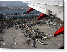 Acrylic Print featuring the photograph San Diego Airport Plane Wheel by Nathan Rupert