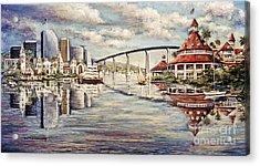 San Diego And Coronado Heritage Acrylic Print