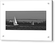 Acrylic Print featuring the digital art San Diego Bay Sailing 2 by Kirt Tisdale