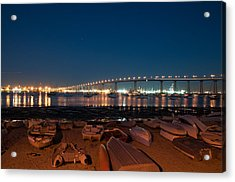 Acrylic Print featuring the photograph San Diego Bridge  by Gandz Photography