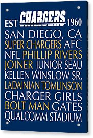 San Diego Chargers Acrylic Print
