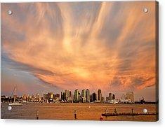 San Diego Cloud Burst Acrylic Print by Peter Tellone