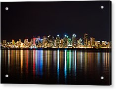 San Diego Colorful Lights Acrylic Print