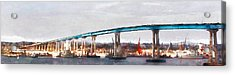 San Diego Coronado Bridge 5d24388wcstyle Acrylic Print by Wingsdomain Art and Photography