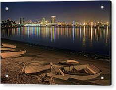 San Diego Harbor Lights Acrylic Print