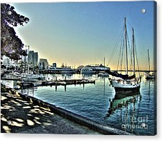 San Diego Harbor Acrylic Print by Steven Parker