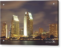 San Diego Nightscape  1-0635 Acrylic Print by Stephen Parker