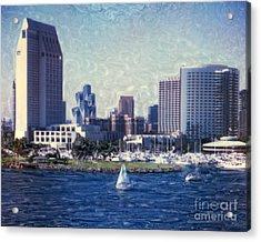 San Diego Sailing Acrylic Print