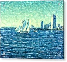 San Diego Schooner Acrylic Print