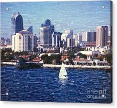 San Diego Seaport Village Acrylic Print