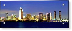 San Diego Skyline At Dusk, Viewed Acrylic Print
