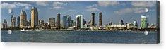 San Diego Skyline Daytime Panoramic Acrylic Print by Adam Romanowicz