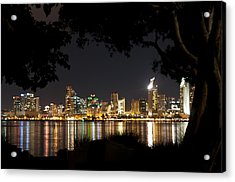 Acrylic Print featuring the photograph San Diego Skyline Framed 1 by Lee Kirchhevel