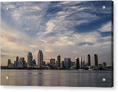Acrylic Print featuring the photograph San Diego Skyline Sunset 1 by Lee Kirchhevel