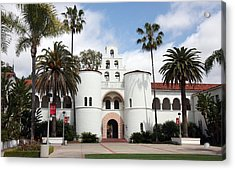 Acrylic Print featuring the photograph San Diego State University by Nathan Rupert
