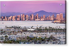 San Diego Sundown - San Diego Skyline Photograph Acrylic Print