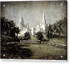 San Diego Temple Antique Acrylic Print