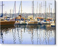 San Diego Yacht Club Acrylic Print by Mary Helmreich