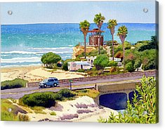 San Elijo Campground Cardiff Acrylic Print by Mary Helmreich