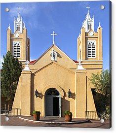 San Felipe Church - Old Town Albuquerque   Acrylic Print by Mike McGlothlen