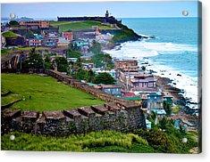 Acrylic Print featuring the photograph San Felipe Del Morro Fortress From San Cristobal by Ricardo J Ruiz de Porras