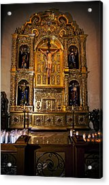 San Fernando Cathedral Altar Acrylic Print by Andy Crawford