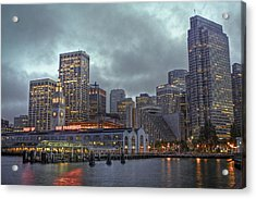 San Francisco Port All Lit Up Acrylic Print