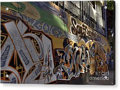 San Fran Street Art Acrylic Print by David Bearden