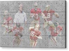 San Francisco 49ers Legends Acrylic Print by Joe Hamilton
