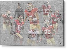 San Francisco 49ers Team Acrylic Print by Joe Hamilton