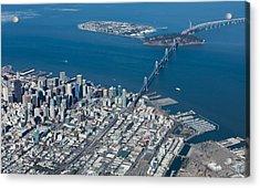 San Francisco Bay Bridge Aerial Photograph Acrylic Print by John Daly