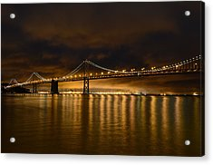 San Francisco - Bay Bridge At Night Acrylic Print