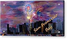San Francisco Bay City Celebration Acrylic Print by Mark Moore