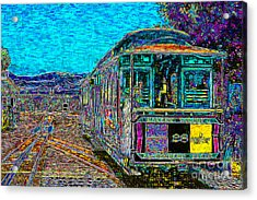 San Francisco Cablecar - 7d14097 Acrylic Print by Wingsdomain Art and Photography