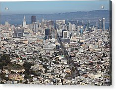 San Francisco California From Twin Peaks 5d28036 Acrylic Print