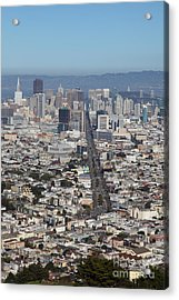 San Francisco California From Twin Peaks 5d28037 Acrylic Print