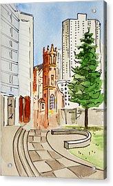 San Francisco - California Sketchbook Project Acrylic Print by Irina Sztukowski