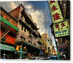 San Francisco - Chinatown 004 Acrylic Print by Lance Vaughn