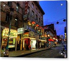 San Francisco - Chinatown 007 Acrylic Print by Lance Vaughn