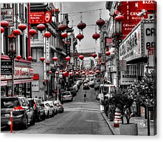 San Francisco - Chinatown 014 Acrylic Print by Lance Vaughn