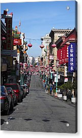 San Francisco Chinatown Acrylic Print by Christopher Winkler
