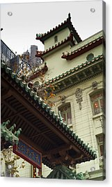 San Francisco Chinatown Dragon Gate Acrylic Print by SFPhotoStore
