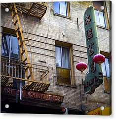 San Francisco Chinatown Golden Escape Acrylic Print by SFPhotoStore