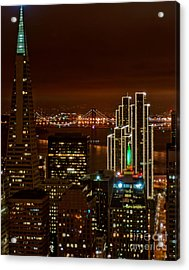 San Francisco City Lights Acrylic Print by Loriannah Hespe