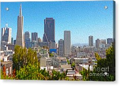 San Francisco - Cityscape - 03 Acrylic Print by Gregory Dyer