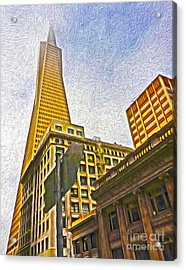 San Francisco - Cityscape - 05 Acrylic Print by Gregory Dyer