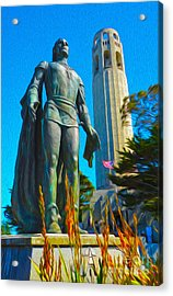 San Francisco - Coit Tower - 02 Acrylic Print by Gregory Dyer